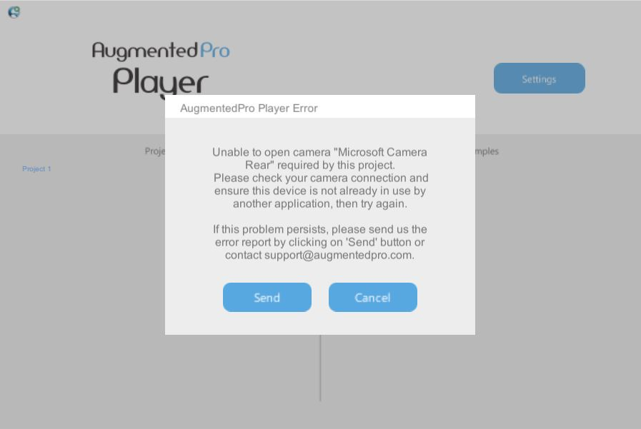 AugmentedPro Player Error